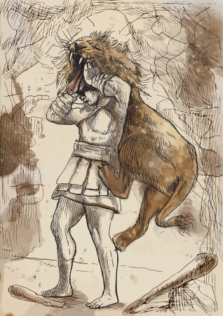 Ancient Greek myths and legends  Hercules Vector