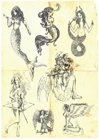 esfinge: Colecci�n de personajes m�ticos conocidos de los antiguos mitos griegos - las mujeres m�sticas