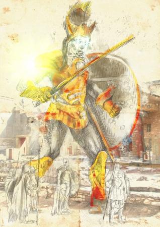 legends: Greek myths and Legends - Talos Stock Photo