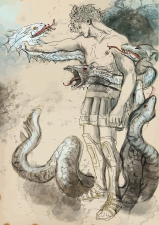 greek mythology: Hercules - Slay the nine-headed Lernaean Hydra