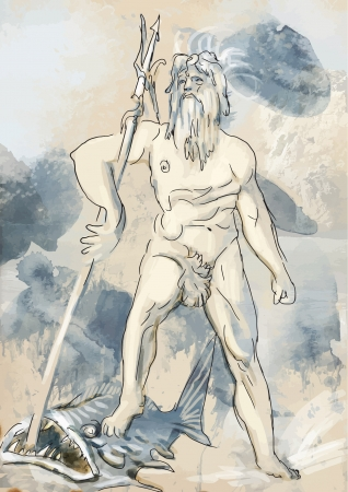 artes plasticas: Poseidon - �Es uno de los doce dioses ol�mpicos del pante�n de la mitolog�a griega