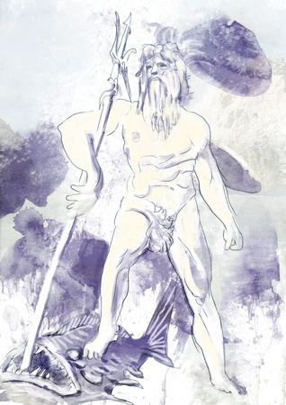 Poseidon - Is one of the twelve Olympian deities of the pantheon photo