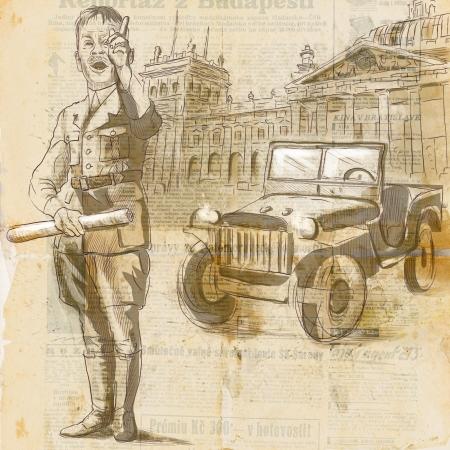 spokesman: A hand drawn illustration - Emotive Spokesman
