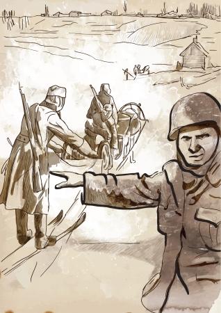 操作 Barbarossa の図  イラスト・ベクター素材