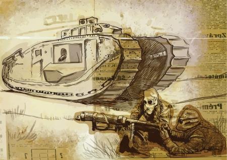 전투 그림 일러스트
