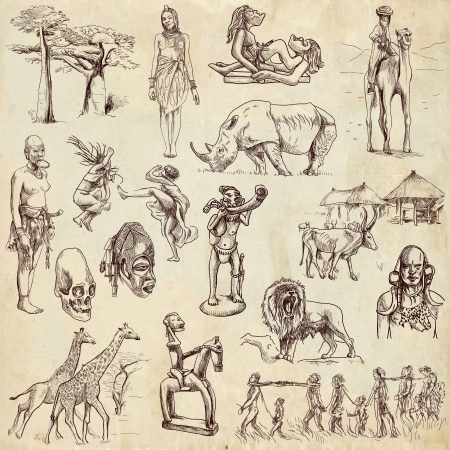 Africa - traveling collection, hand drawings photo