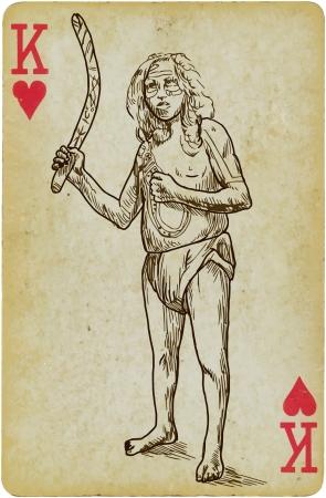 boomerang: Australian native with a boomerang Illustration
