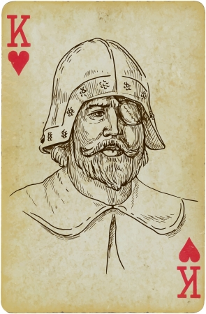 troops: Commander and General of the medieval troops Illustration