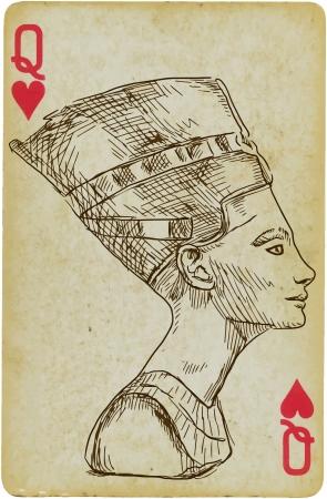 Portrait of Nefertiti Ancient Egyptian Queen Vector