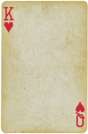 poker cards: king and queen of hearts