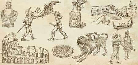 Viaggiare serie ITALIA 2 - Raccolta di illustrazioni disegnate a mano