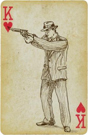 cosa: Mafia man hand drawn illustration Illustration