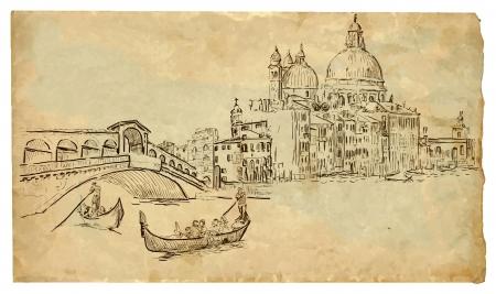 Venice hand drawn illustration