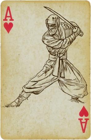 cutthroat: Ninja hand drawn illustration