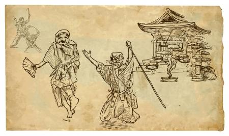 percussionist: Kyogen hand drawn illustration