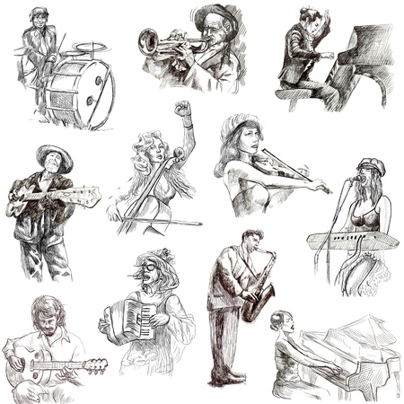 Musicians - Collection of hand drawn illustrations