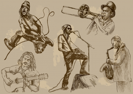 virtuoso: Musicians - Collection of hand drawings converted