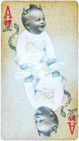 Mixed Media - Baby Devil photo
