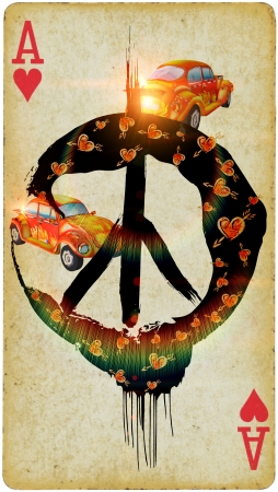 Mixed Media - Be Hippie   photo