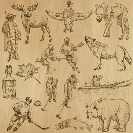 Canada - parte 2 - Un illustrazioni disegnate a mano Archivio Fotografico - 21437789