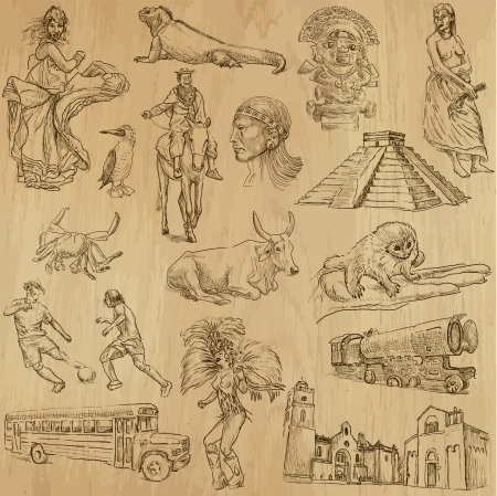 pygmy: South America - part 1 - an hand drawn illustrations