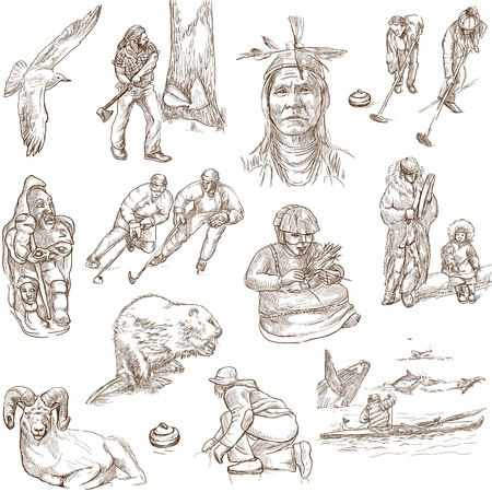 lumberman: Canada - hand drawn illustrations - part 2