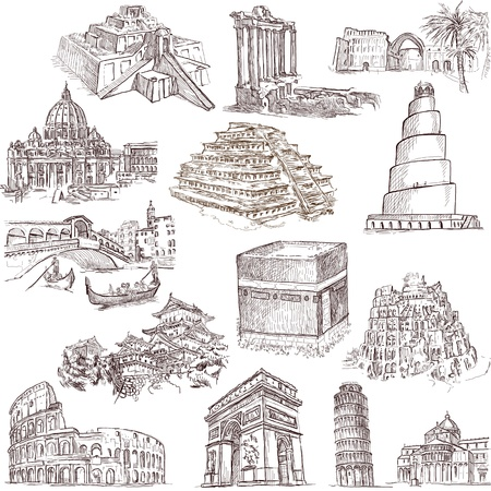 Famous places, buildings and architecture around the world