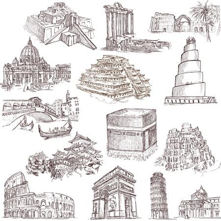 Lieux célèbres, des bâtiments et de l'architecture à travers le monde Banque d'images - 21438146