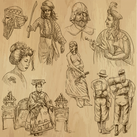 customs: People and customs around the World - 7 Illustration