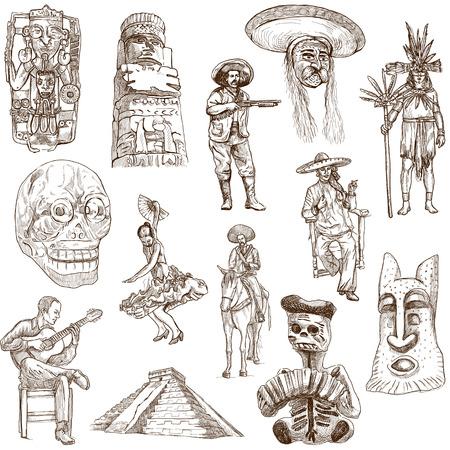 Mexico traveling, white collection 02  版權商用圖片