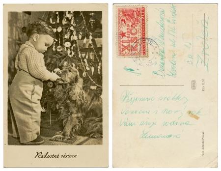 PRAGUE, CZECHOSLOVAKIA, CIRCA 1925 - Merry Christmas - Zdenek Menec - Circa 1920