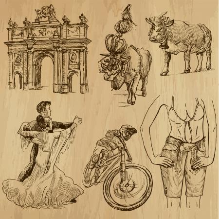 Traveling series  AUSTRIA  set no 3   Illustration