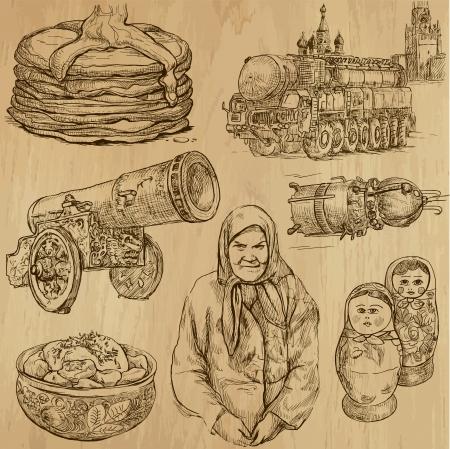 no 1: Traveling RUSSIA  set no 1  - Set of hand drawn illustrations