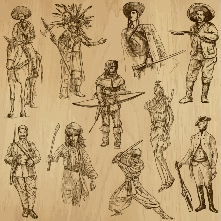no 1: Soldiers, Warriors and Heroes  no 1  - Hand drawn illustrations  Illustration