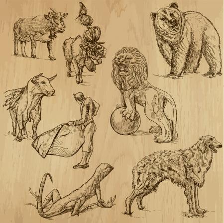 borzoi: Animals around the World  set no  7
