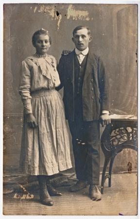 Lovers - circa 1925  photo