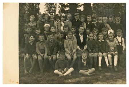 authenticity: Classmates - circa 1940