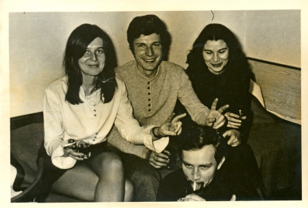 Students, friends - circa 1970