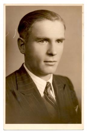 portrait of a man - circa 1940  Foto de archivo