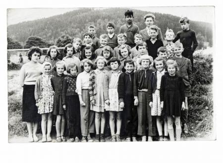camarades de classe - vers 1955 Banque d'images