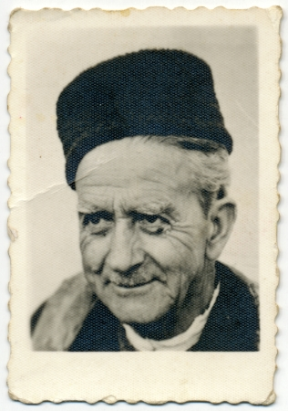 CIRCA 1950  Common portrait of an unknown old man in a hat Stock Photo - 24211150