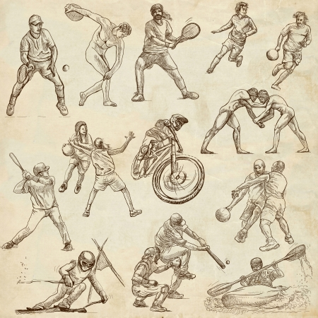 greco roman: Sporting events around the world  set no 3, old paper set