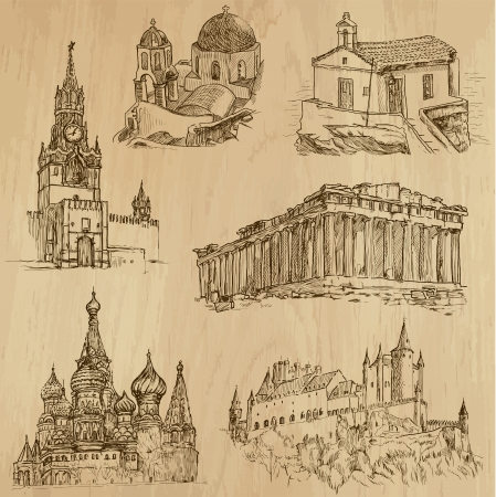 Places and Architecture around the World  no 11   Vector