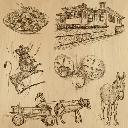 no 1: Traveling series  BULGARIA  set no 1  - drawings into vector