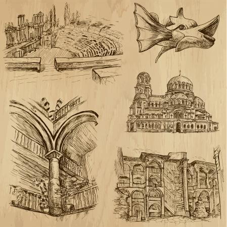 Traveling series  BULGARIA  set no 4  - drawings into vector  向量圖像