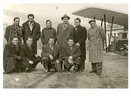 authenticity: group of workers - circa 1955