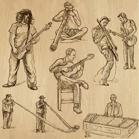 alphorn: World MUSIC and MUSICIANS around the World  set no 2  Illustration