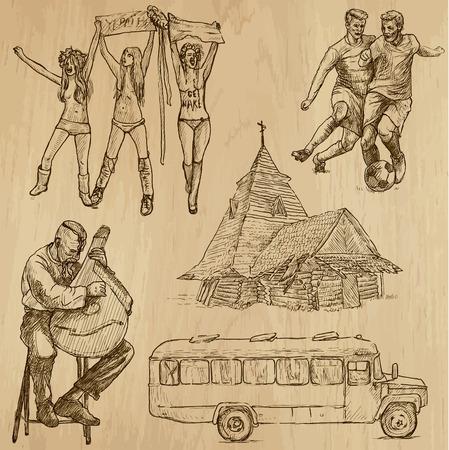 no 1: Travel   UKRAINE set no 1  Collection of hand drawn illustrations