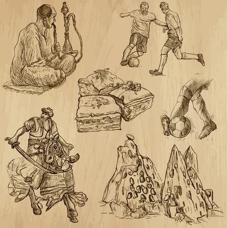 no 1: Travel   TURKEY set no 1  Collection of hand drawn illustrations