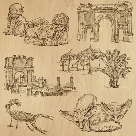 no 1: ALGERIA set no 1  Collection of hand drawn illustrations